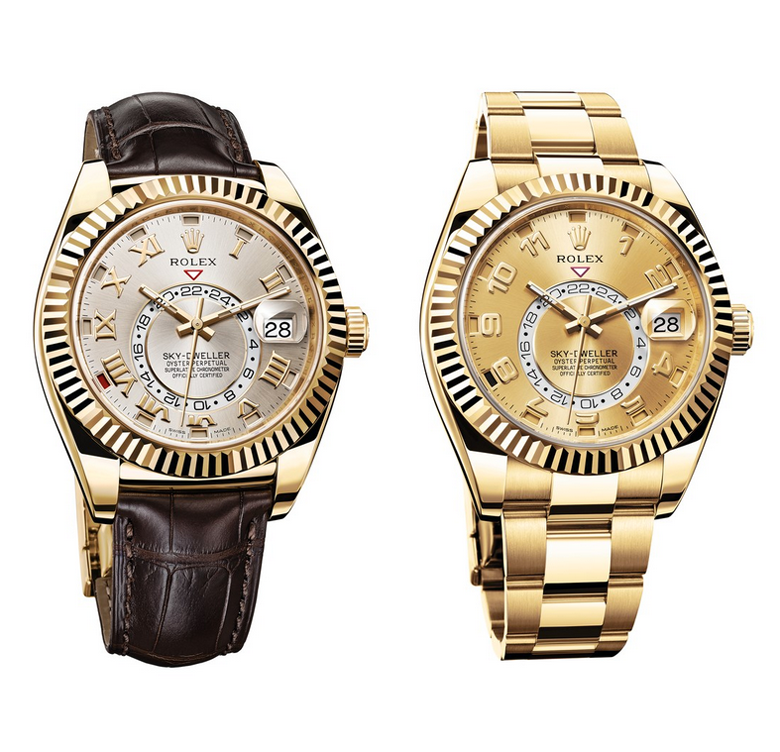 Rolex Sky-Dweller | Yellow Gold | Leather Strap & Oyster Bracelet
