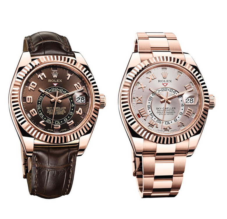 Rolex Sky-Dweller | Rose Gold | Leather Strap & Oyster Bracelet
