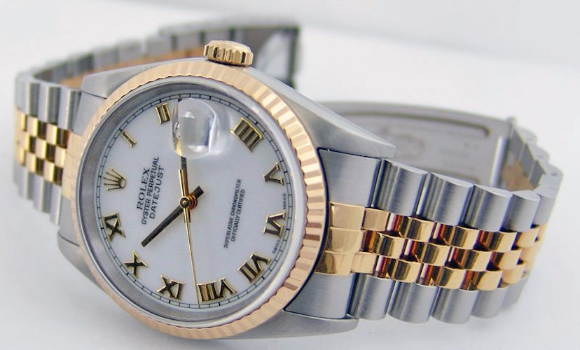 rolex-datejust-yellow-gold-steel-white-roman-dial-16233-jubilee-2000-2004-watch-chest